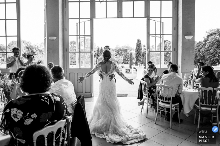 Germignonville Wedding Reception Party Time Now - Black and White Photography