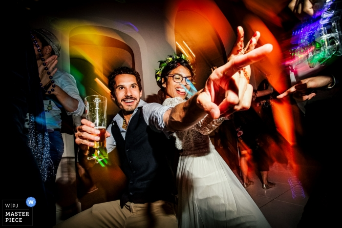 Iscoyd Park, Shropshire wedding photo of the Bride on the dance floor