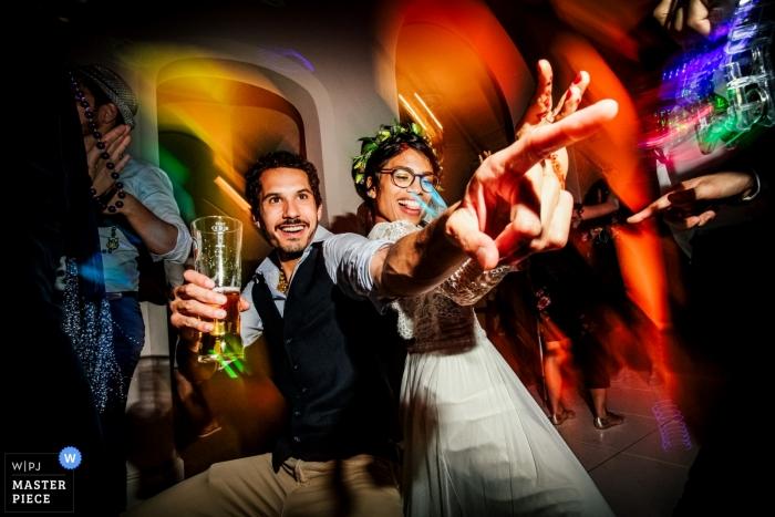 Iscoyd Park, Shropshire Hochzeitsfoto der Braut auf der Tanzfläche