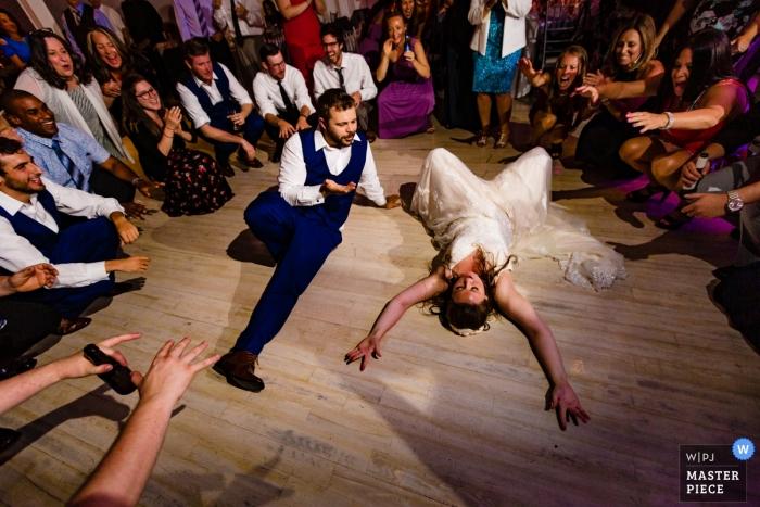 Long Beach Hotel Wedding Reception Photos Dancing   How low can you go?