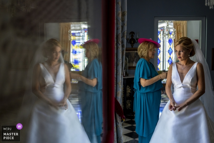 Malaga - Hacienda del Alamo Wedding Photos of the last touches before the ceremony