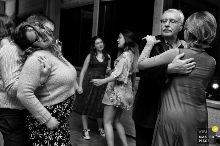 Granlibakken, Tahoe City, CA Wedding Photojournalism - Photo showing the dancing generation gap