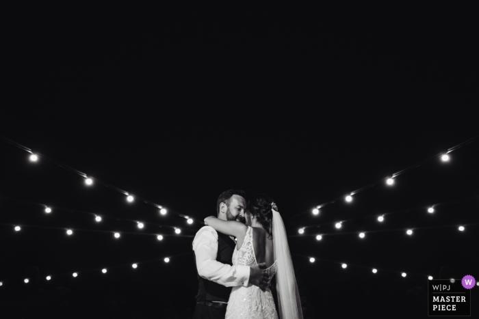 Villa I Cedri, Tuscany Wedding Photo in Black and White of the First Dance