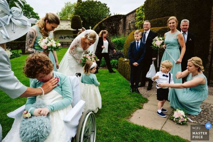 Arley Hall, Cheshire wedding guests during the reception - UK wedding reportage photographer