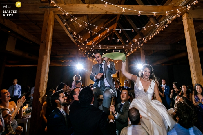 Chicago, Illinois Centrum sztuki Bridgeport hora fotografia taneczna z recepcji.