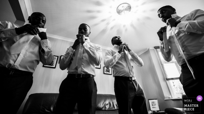 Wedding Reportage Photos from Richmond Hill Hotel, UK - Tie up