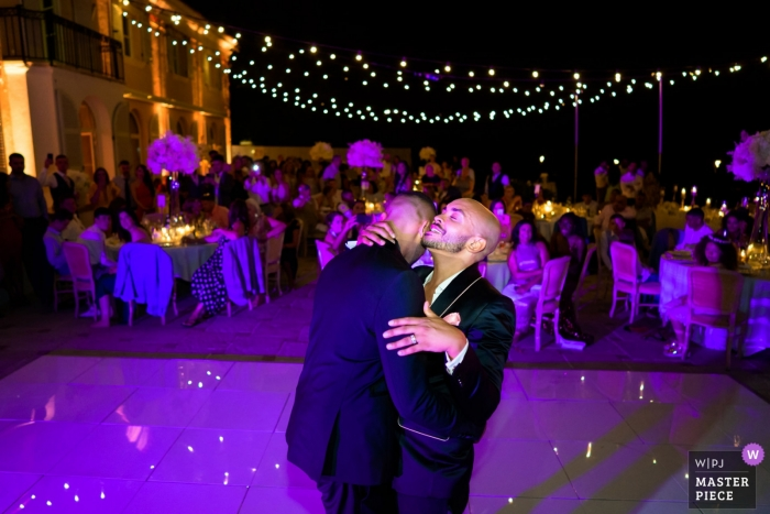 Villefranche, France First Dance Wedding Photography in Purple