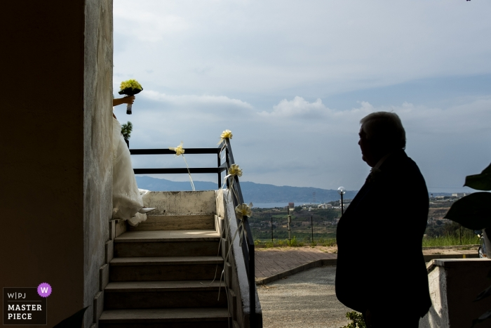 REGGIO CALABRIA WEDDING PHOTOGRAPHY - dad's first look at the bride