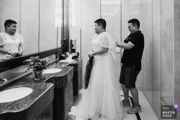 Fujian Hotel Wedding photo of the Best man in a wedding dress