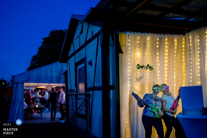 Florstadt Wedding Photo of the outdoor reception - The Photo booth