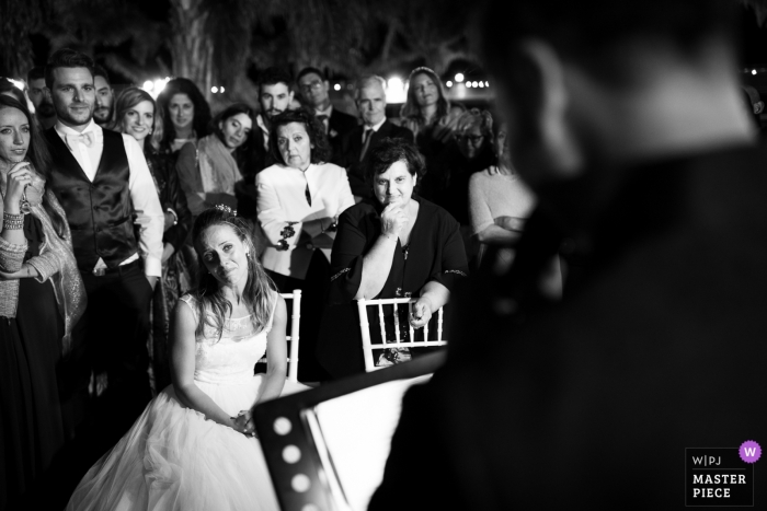 TROPEA (VV) - ITALY WEDDING PHOTO DURING SPEECH WITH BRIDE