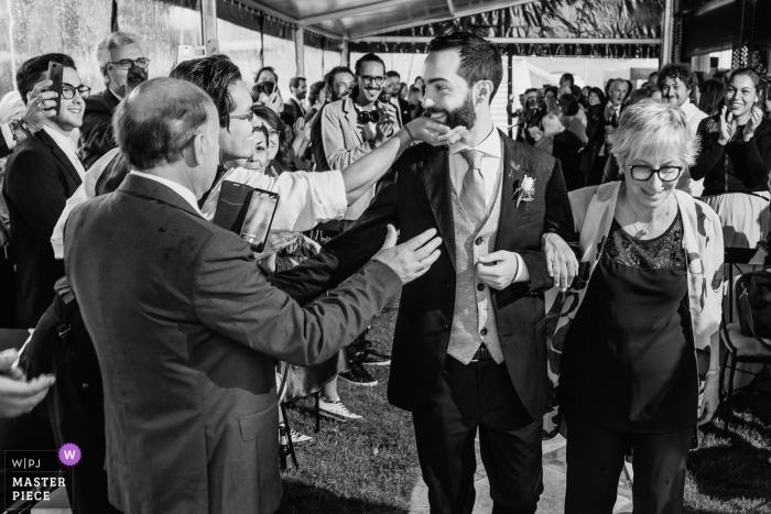 Palacio de Silvela Wedding Photos - The Groom arrives to the ceremony