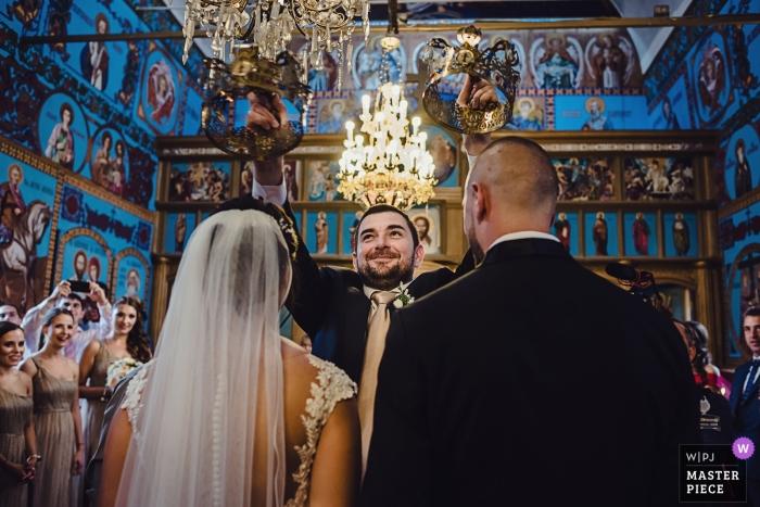 Kazichene Village Wedding Photography inside Church - Don't hit the crowns