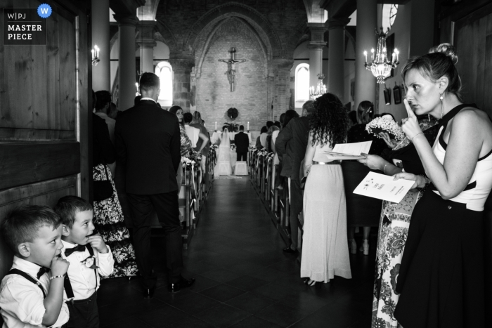 Altidona (FM) Wedding Ceremony Photo of Kids who are Kids