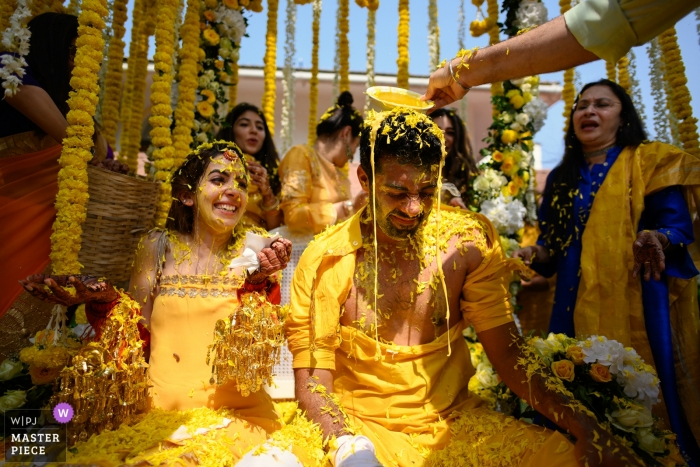 Goa, India Traditional Wedding Photographer | When your friends take revenge for all the pranks you have pulled on them!