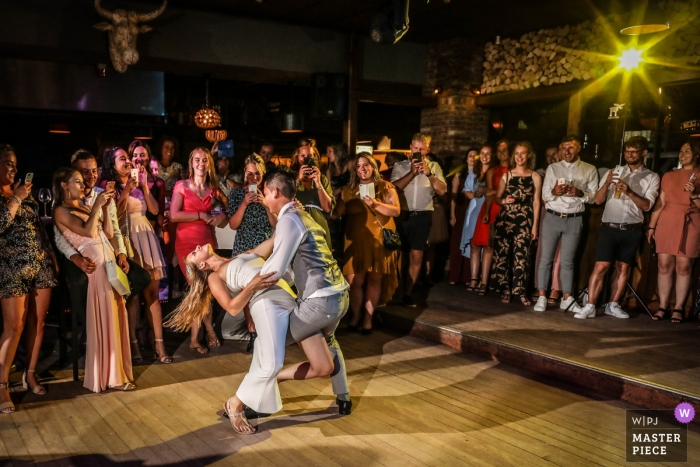 Netherlands wedding photographer at Den Helder - A sensual opening dance by the bride and groom