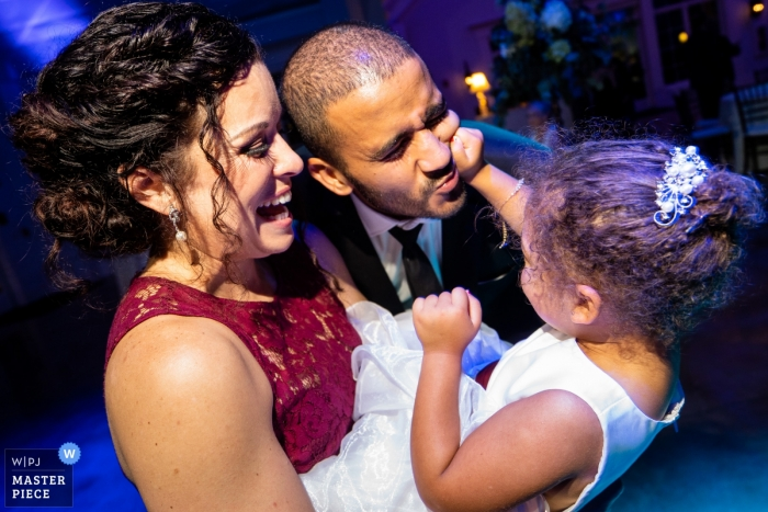 Yonah Mountain Vineyards Cleveland Georgia Wedding Venue Photos | Flower girl doesnt want a kiss