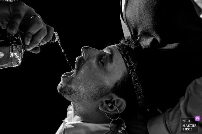 Paulinia Wedding Photography - Image contains: man, hands, liquor