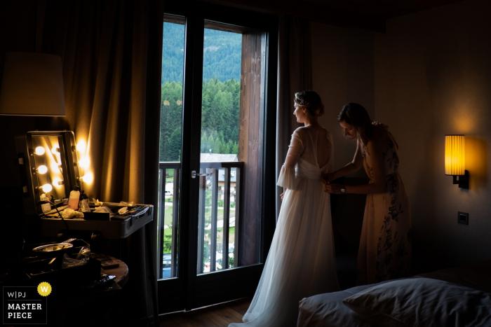 Trouwfotografie in het Hotel Falidia - Cortina - Italië - Een geweldige sfeer voor een cruciaal moment.