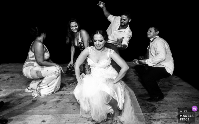 Brazil Wedding Day Reception Photography of music, friends and dance