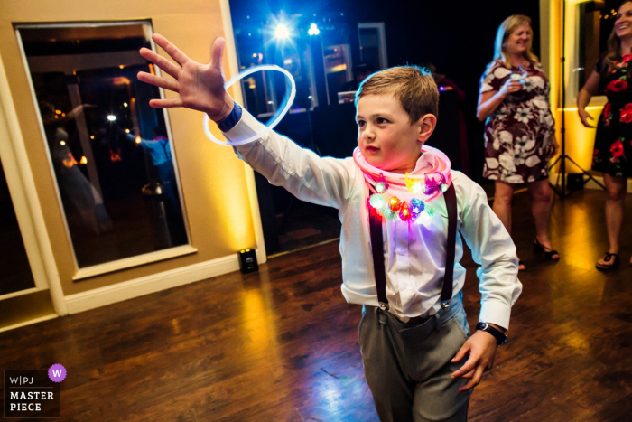Deer Park Villa, Fairfax Wedding Venue - Photography of Dancing fun at the Reception Party - Kids and glow sticks