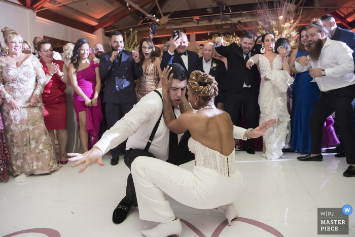Liberty House wedding venue photographer — people dancing at wedding reception