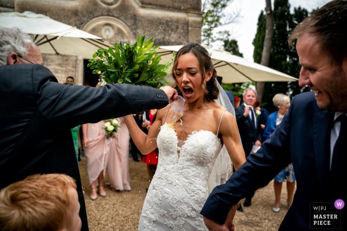 Lazio wedding photographer - outside the churchCeremony