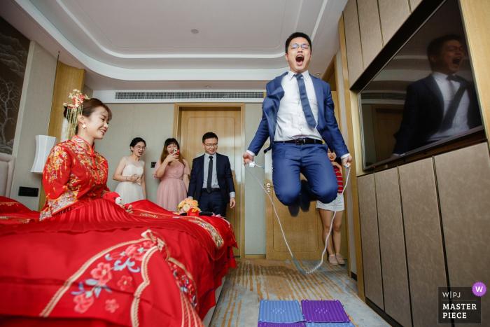 Jingjiang City, Jiangsu Province actual day wedding photography - Play the game