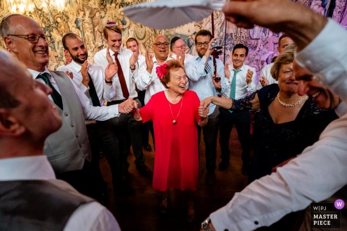 Hatfield House Wedding Venue in, Hertfordshire, UK: Photos of Grandma on the dance floor