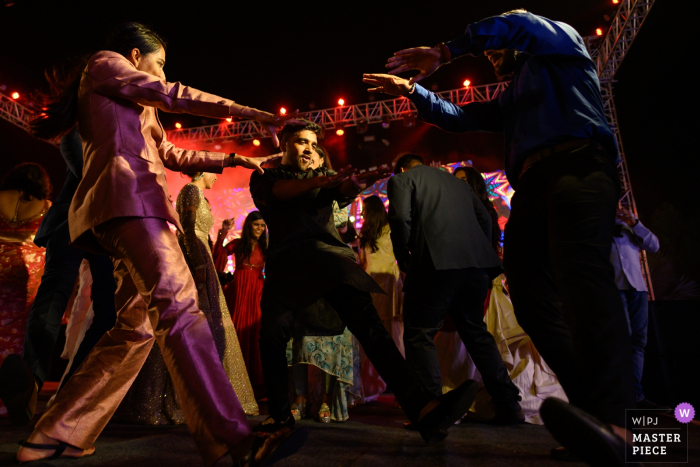 Wedding photographer for Ahmedabad, India — When your friends lift you higher on the dance floor at the wedding reception!