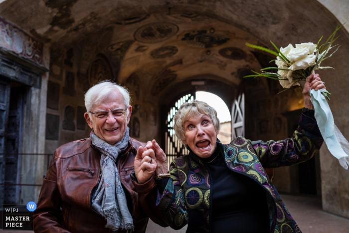Certaldo Alto, Tuscany wedding ceremony photography