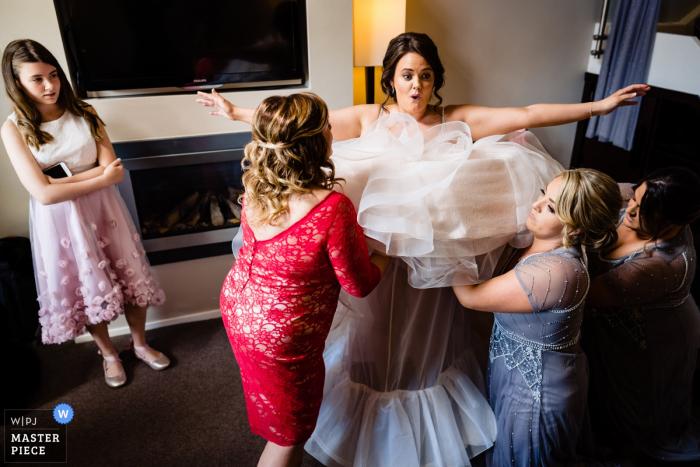 BrookLodge, Wicklow, Irland Hochzeitsfotograf - Dressing der Braut