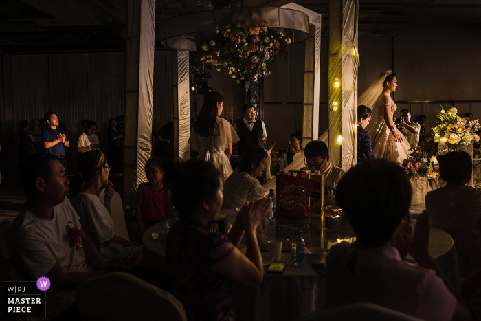 China wedding ceremony — father looking at bride