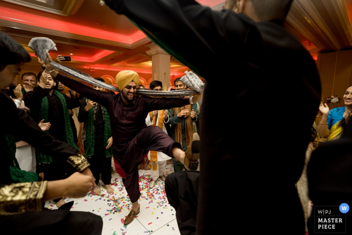 Photography dancing at Indian wedding — Sacramento California wedding photographer