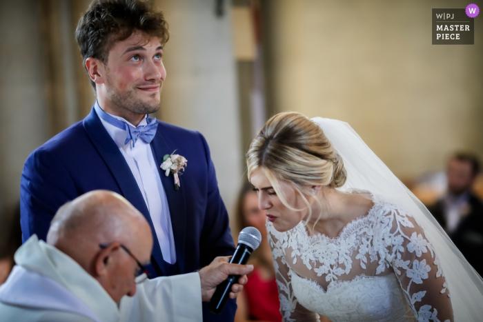 """Île-de-France Hochzeitsfotograf: In der Kirche - Sie sagt """"Ja !!!!"""""""