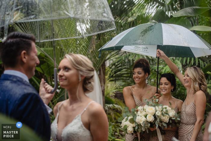 Hemingway House Key West Wedding Photography from a Rainy Ceremony