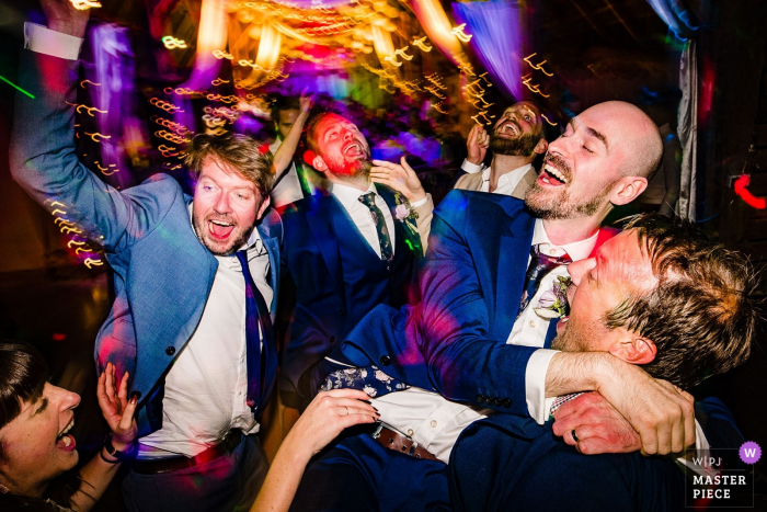 Alpheton Hall Barns, UK Dancefloor party photography from the wedding reception venue