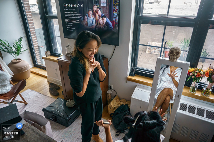 New York City wedding photography from the getting ready scene for the bride