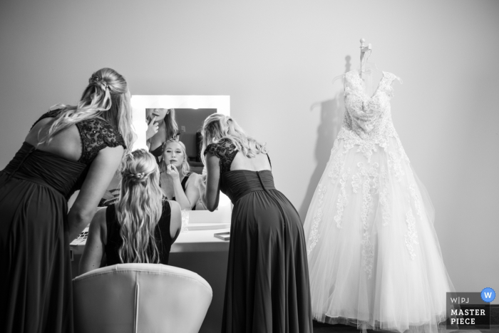 Minnesota Client's Home wedding day photography - Bride Getting Ready