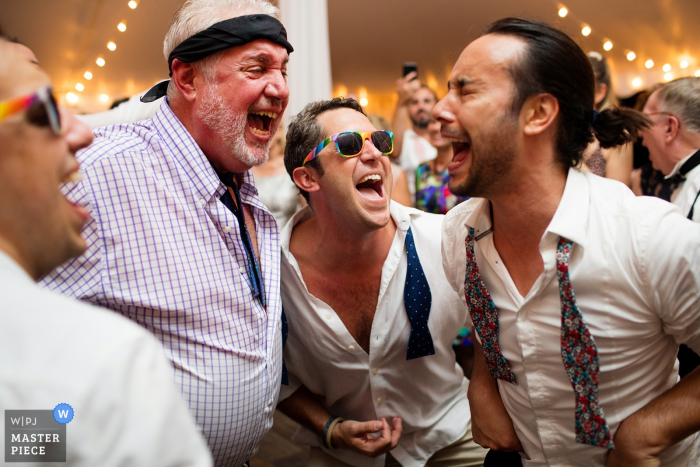 Providence Rhode Island wedding photographer - The guys Dancing at reception
