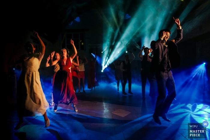 Saint Valérien, FRANCE wedding photo of a Crazy first dance
