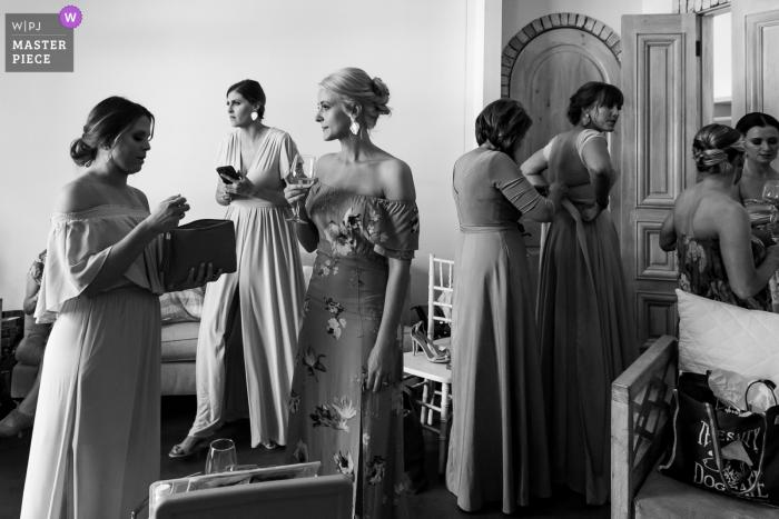 Wrightsville Manor, Wrightville, SC wedding venue photos | Getting Ready Bridesmaids