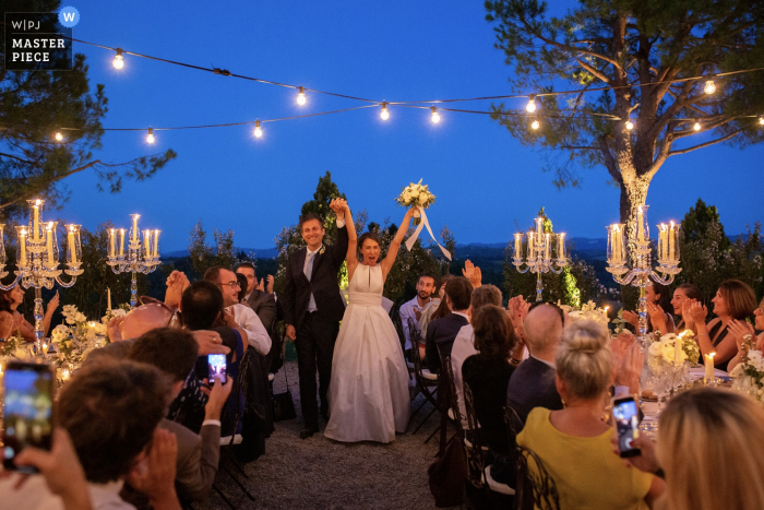 Bologna - Italy - Reception photos in a Prive Villa	- An entrance full of energy for our newlyweds