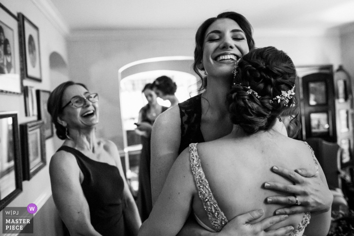 Private Residence at Saratoga - Wedding Photography - One last hug before the ceremony