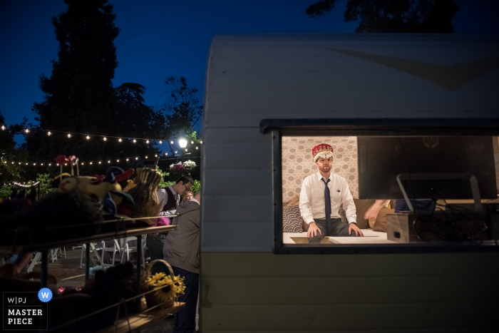 Oakland, CA, Photo Booth wedding pictures. | A quiet moment with the photo booth camera.