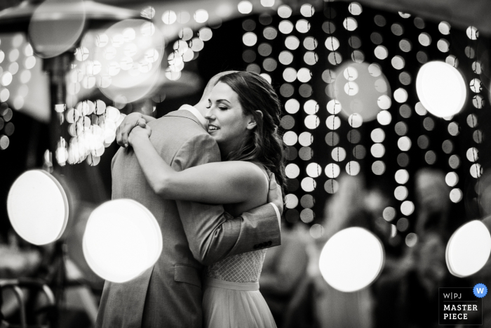 Bride's uncle's farm outside Longmont, Colorado- Wedding photo of the First dance.