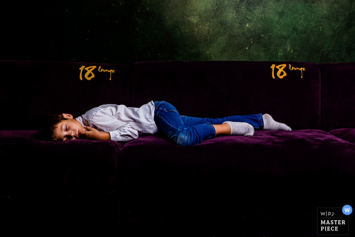 Romania wedding image from 18 Lounge: The party was just too much for this kid, he had to take a nap