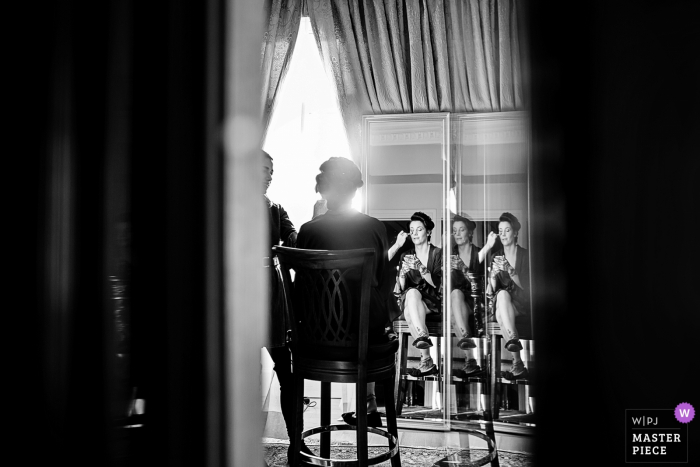 Pera Palace Hotel Wedding Photo: Getting ready for the big day