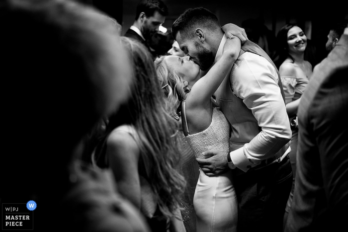 Boathouse 4, Historic Royal Dockyards wedding | Bride and groom on the dance floor.