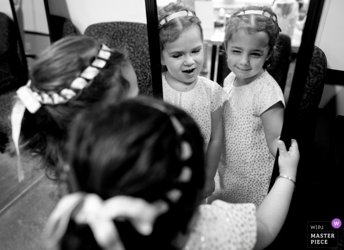 Desert Botanical Garden	wedding photos | AZ flower girls getting ready